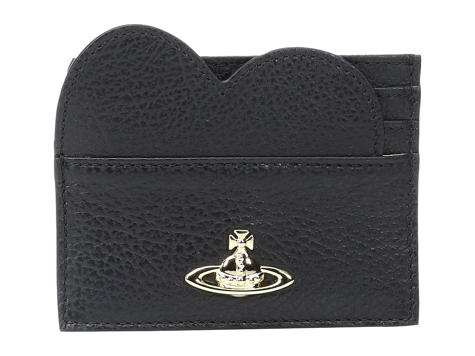 Vivienne Westwood - Heart Credit Card Balmoral (Black) Credit card Wallet