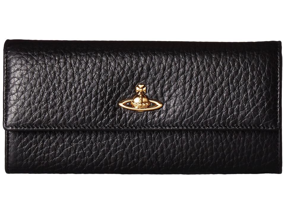 Vivienne Westwood - Long Wallet BeLgravia (Black) Wallet Handbags