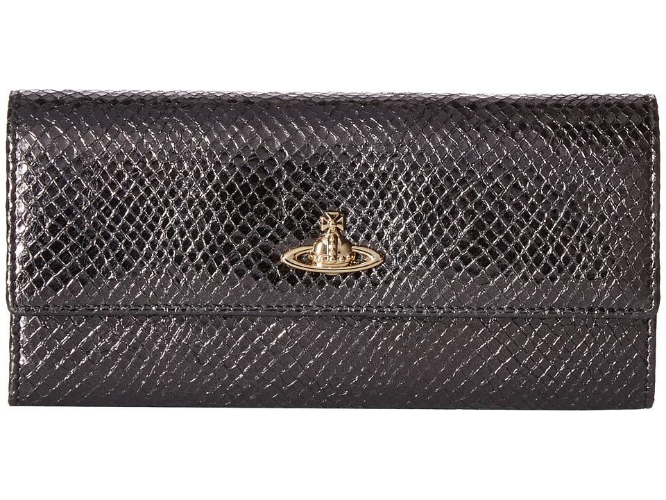 Vivienne Westwood - Long Wallet Verona (Black) Wallet Handbags