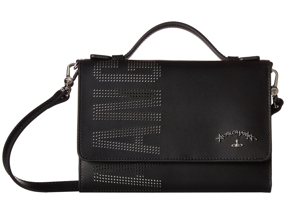 Vivienne Westwood - iPhone Wallet Leybourne (Black) Wallet Handbags