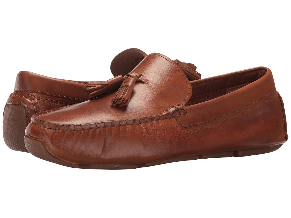 Cole Haan Rodeo Tassel Driver (Brown Luggage Leather) Women's Shoes