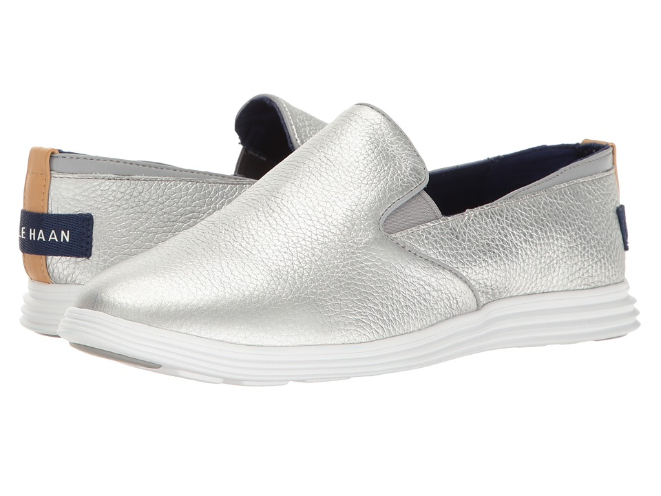 Cole Haan Ella Grand 2Gore Slip (Silver Leather) Women