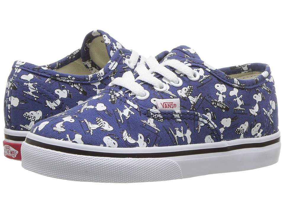 Vans Kids - Authentic x Peanuts (Infant/Toddler) ((Peanuts) Snoopy/Skating) Kids Shoes
