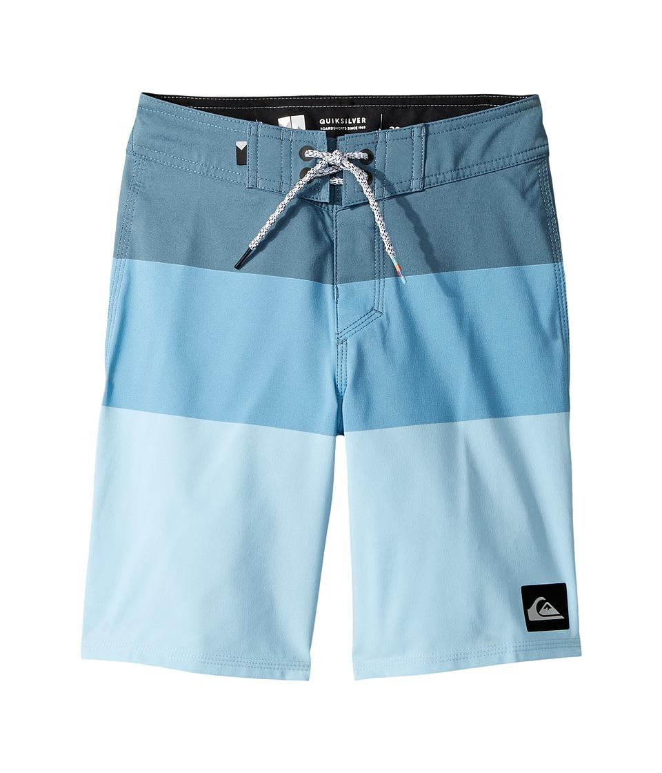 Quiksilver Kids - Highline Blocked Vee 17 Boardshorts (Big Kids) (Indian Teal) Boy's Swimwear