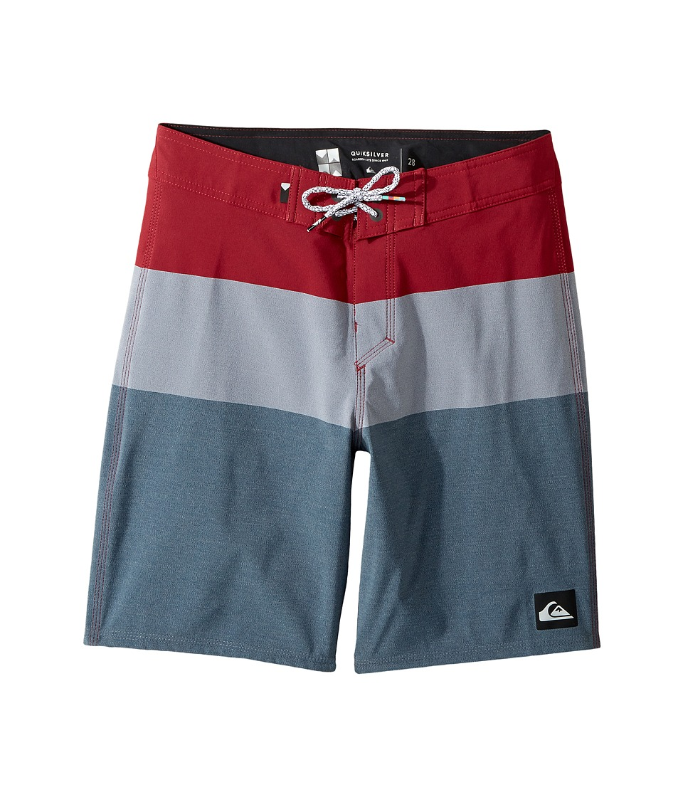 Quiksilver Kids - Highline Blocked Vee 17 Boardshorts (Big Kids) (Chilli Pepper) Boy's Swimwear