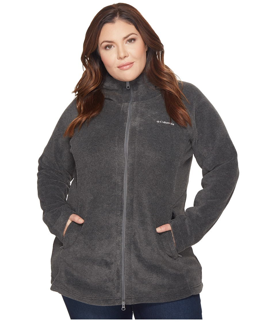 Columbia - Plus Size Benton Springstm II Long Hoodie (Charcoal Heather) Women's Sweatshirt