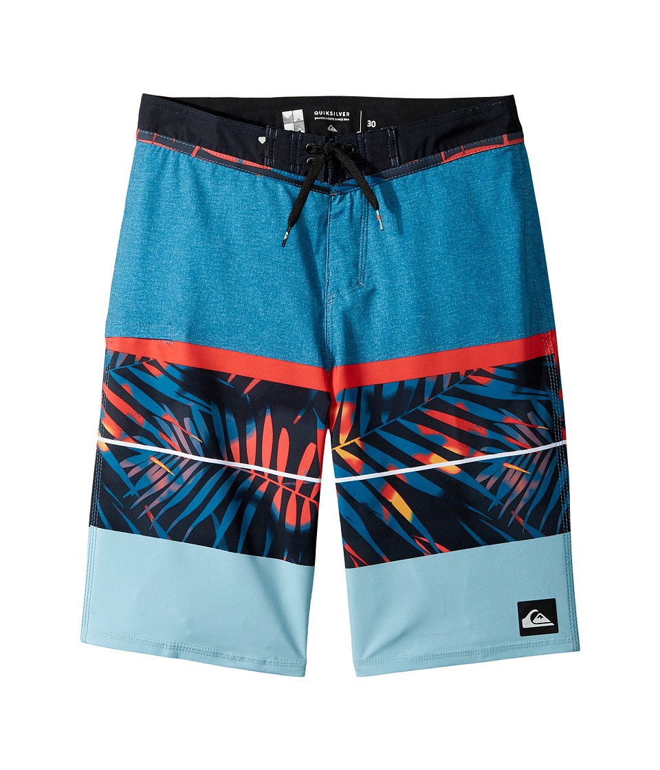 Quiksilver Kids Slab Print Vee 19 Boardshorts (Big Kids) (Moroccan Blue) Boy