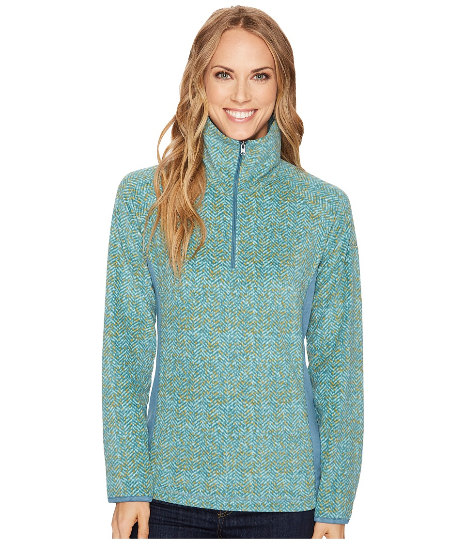 Columbia - Glacial Fleece III Print Half Zip Top (Cloudburst Tweed) Women's Long Sleeve Pullover