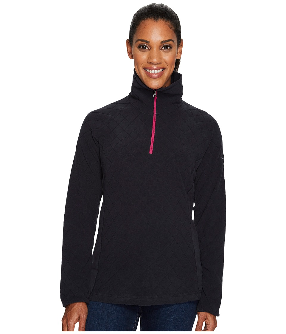 Columbia - Glacial Fleece III Print Half Zip Top (Black Diamond Quilt Print/Deep Blush) Women's Long Sleeve Pullover