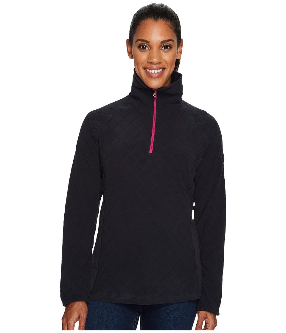 Columbia - Glacial Fleece III Print Half Zip Top (Black Diamond Quilt Print/Deep Blush) Women's Long Sleeve Pullover