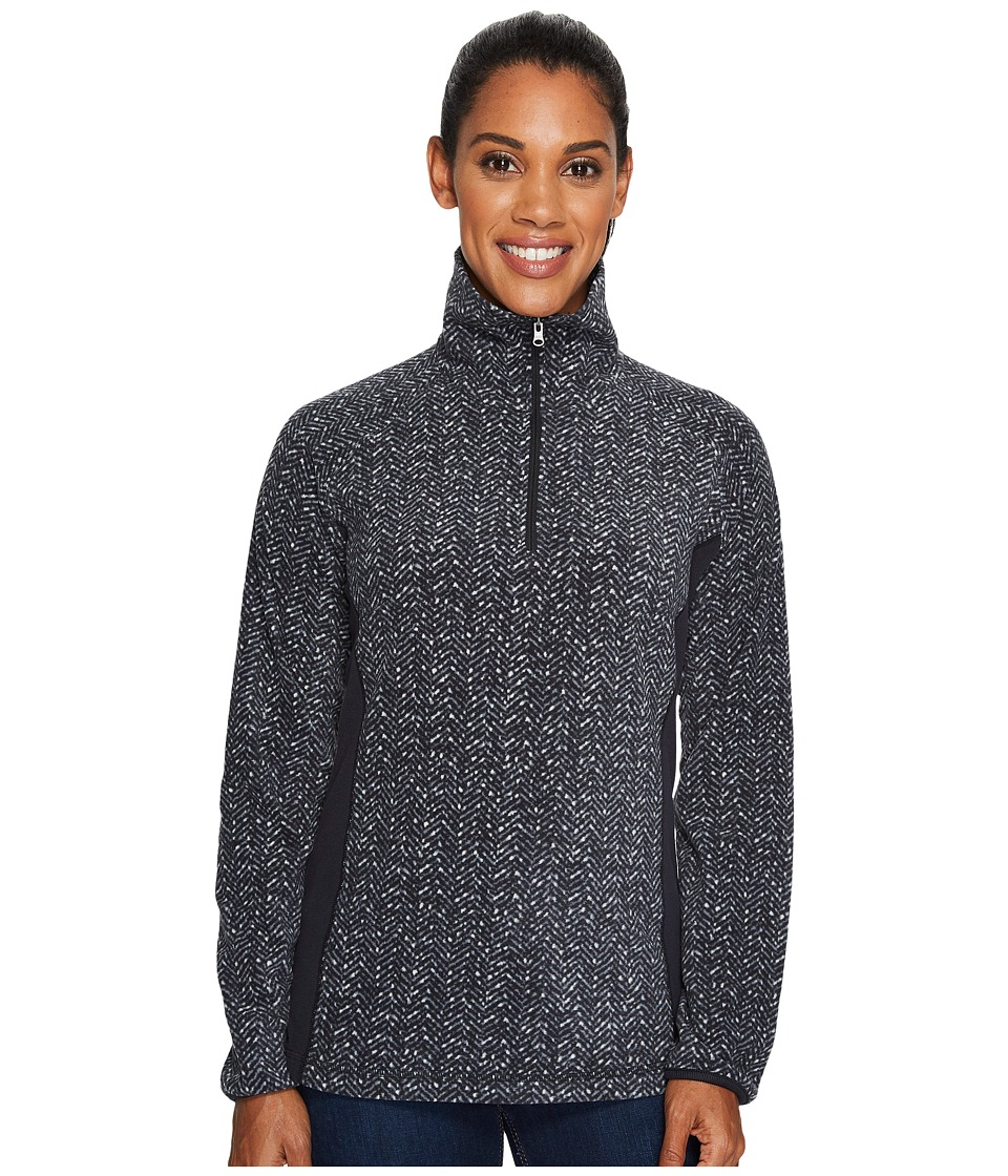 Columbia - Glacial Fleece III Print Half Zip Top (Black Tweed) Women's Long Sleeve Pullover