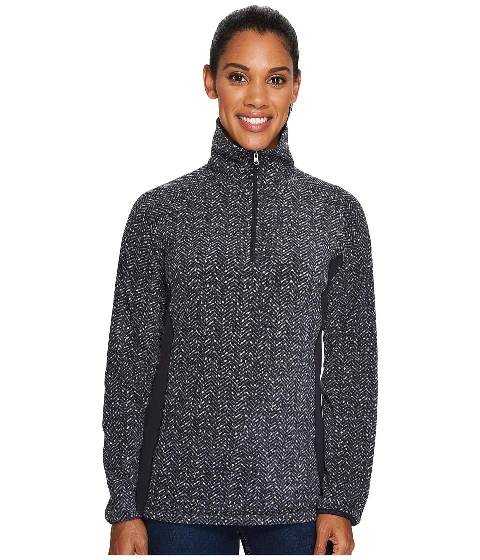 Columbia - Glacial Fleece III Print Half Zip Top (Black Tweed) Women's Long Sleeve Pullover