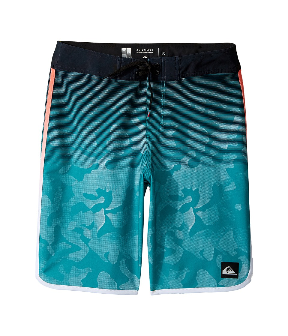 Quiksilver Kids - Shore Scallop 18 Boardshorts (Big Kids) (Viridian Green) Boy's Swimwear