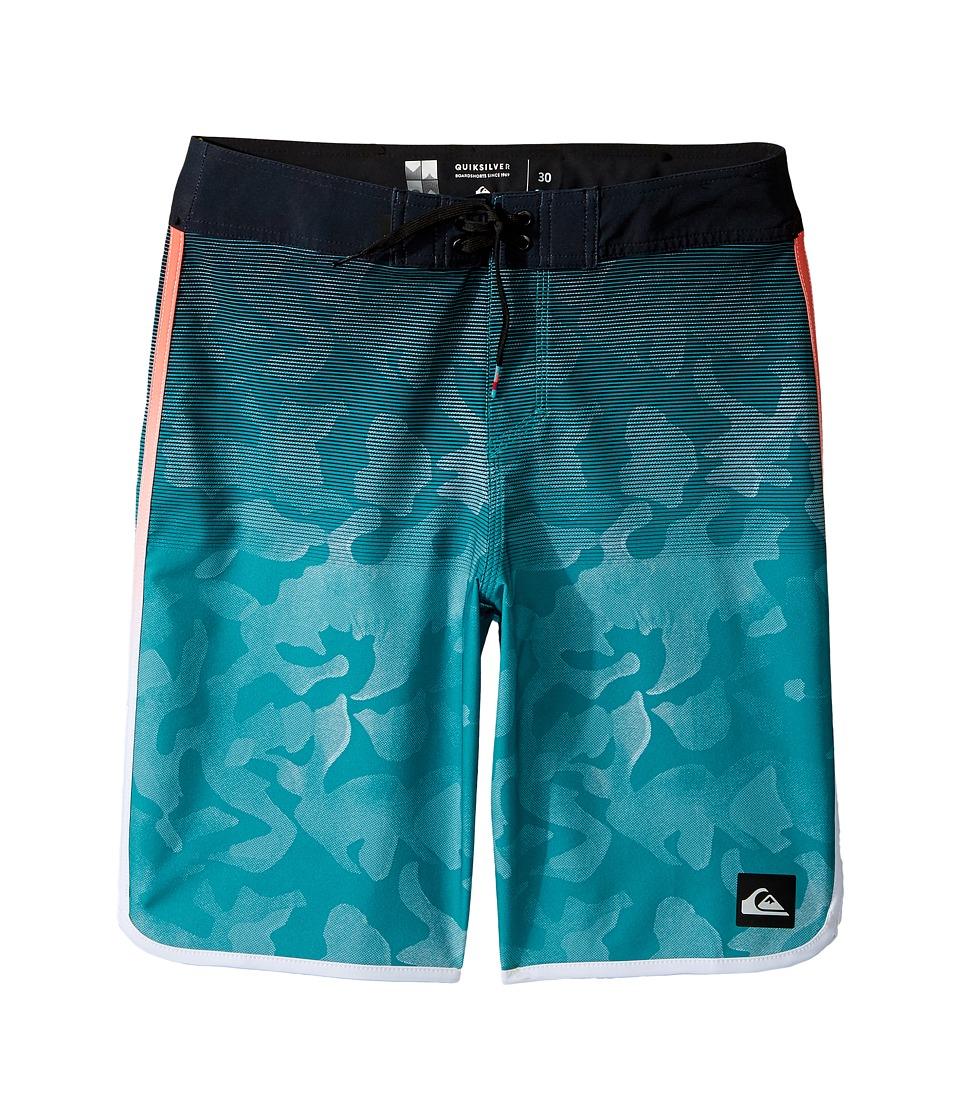 Quiksilver Kids Shore Scallop 18 Boardshorts (Big Kids) (Viridian Green) Boy