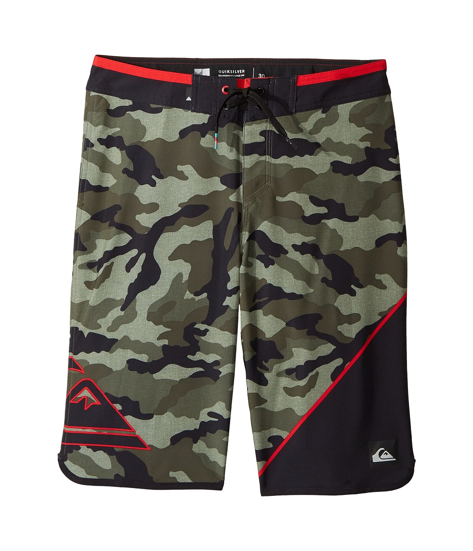 Quiksilver Kids - New Wave Everyday Hi 19 Boardshorts (Big Kids) (Forest Night) Boy's Swimwear