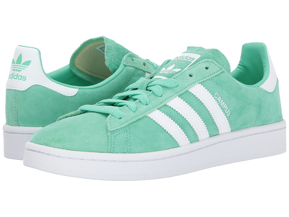 adidas Originals - Campus (Green Glow/White/Crystal White) Men's Classic Shoes