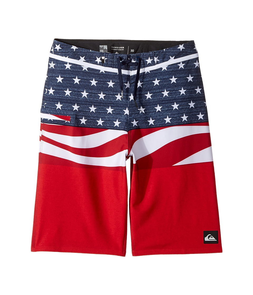 Quiksilver Kids Everyday Blocked Vee 19 Boardshorts (Big Kids) (Quik Red) Boy