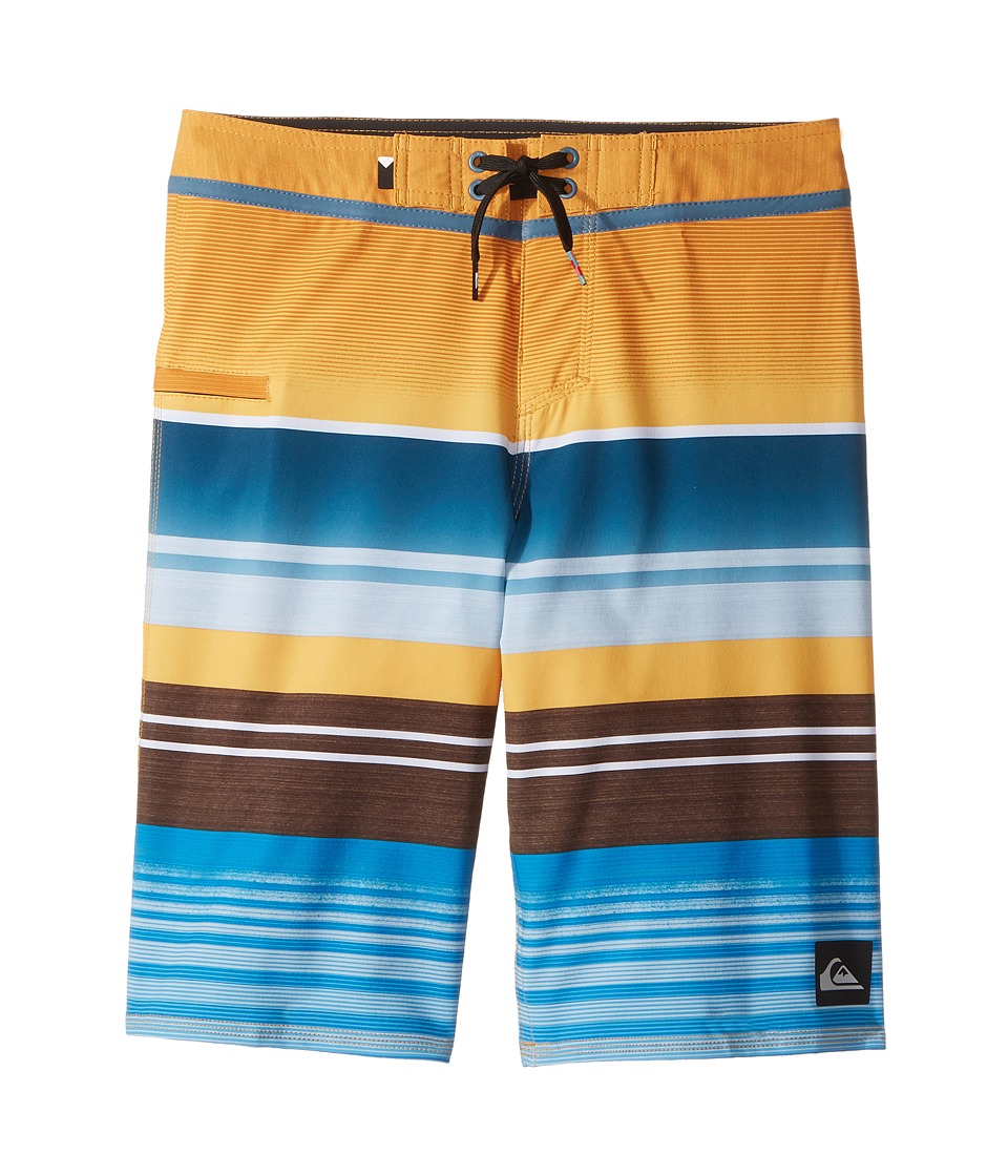 Quiksilver Kids Everyday Stripe Vee Boardshorts (Big Kids) (Artisan Gold) Boy
