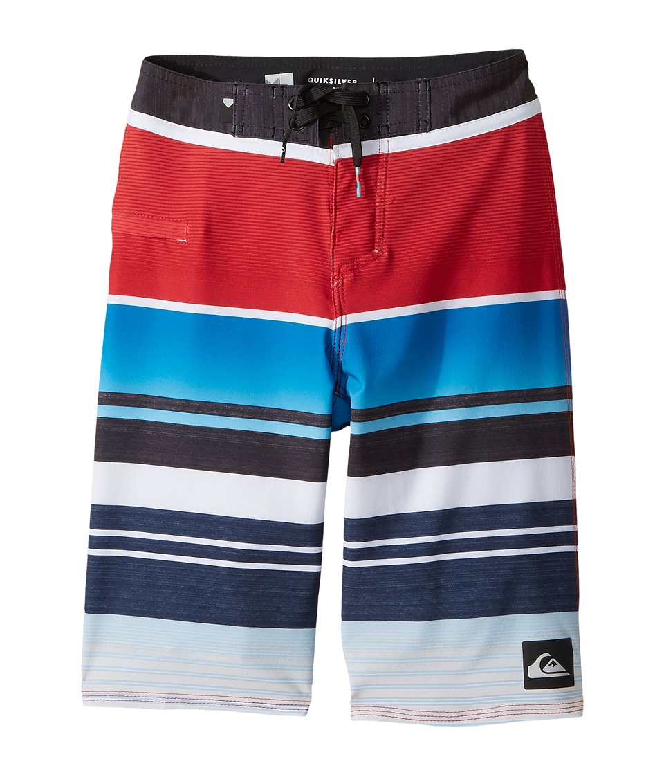 Quiksilver Kids Everyday Stripe Vee Boardshorts (Big Kids) (Chilli Pepper) Boy