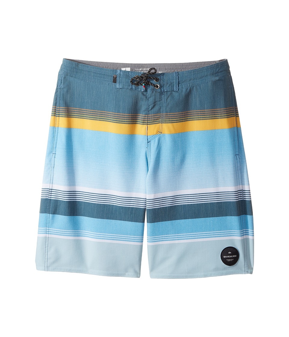 Quiksilver Kids Swell Vision Beachshort 17 (Big Kids) (Indian Teal) Boy