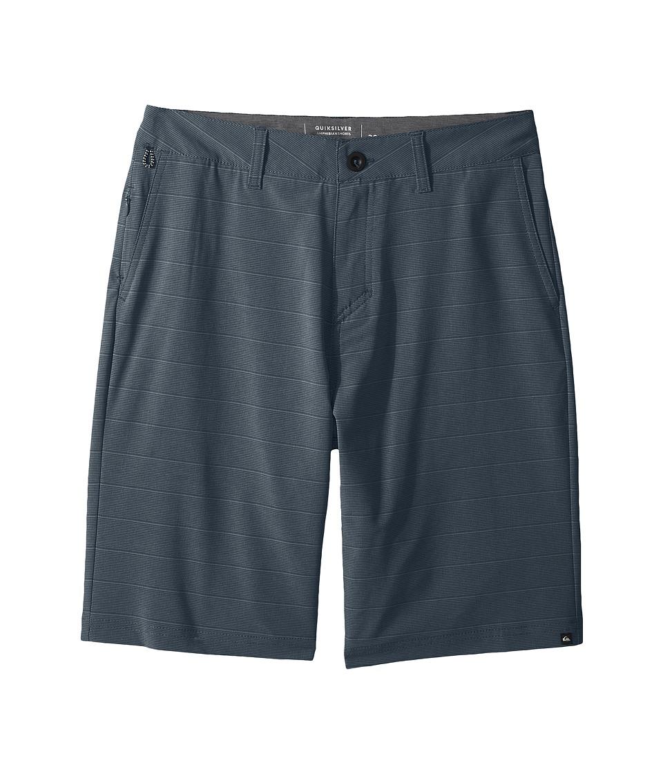 Quiksilver Kids - Lines Amphibian 19 (Big Kids) (Indian Teal) Boy's Shorts