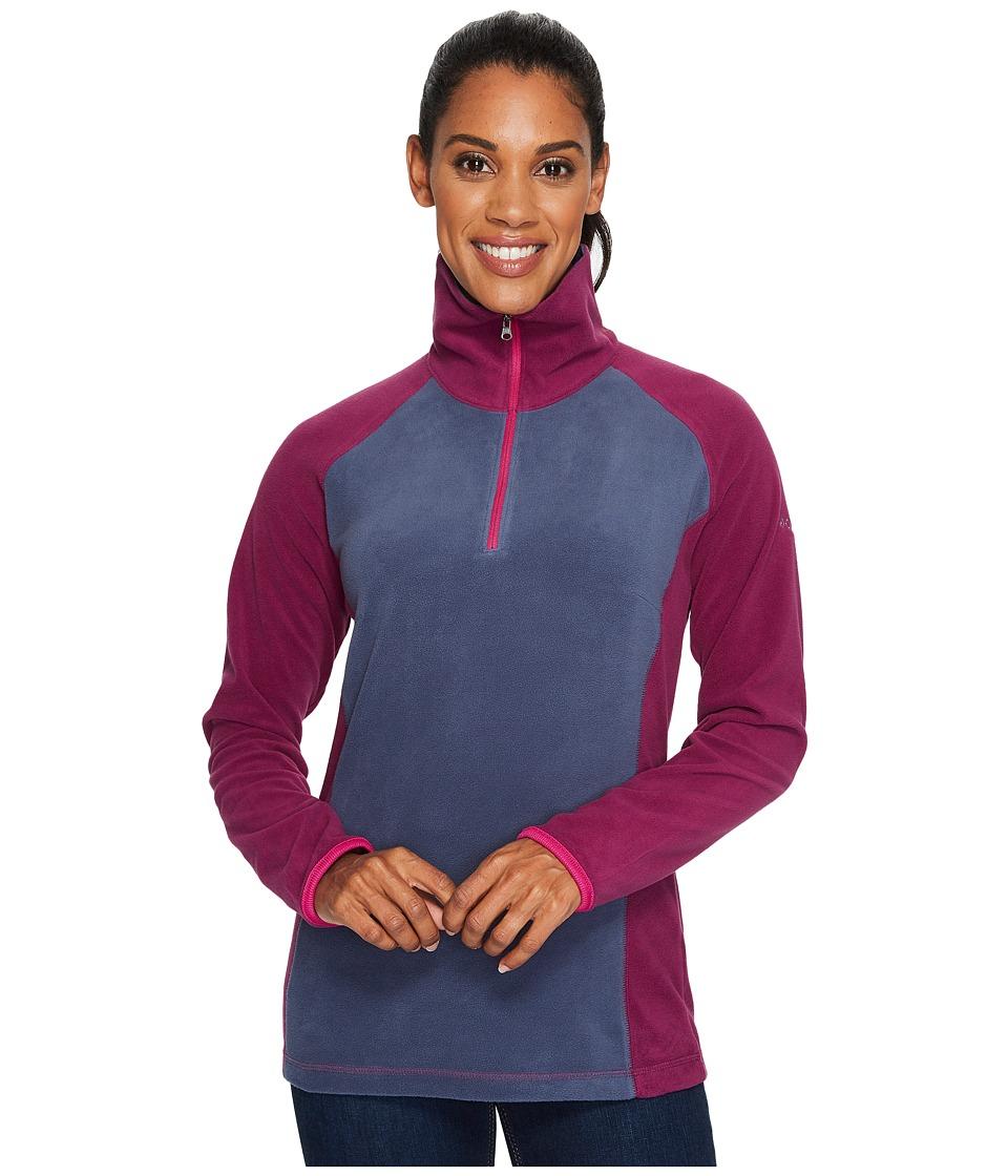 Columbia - Glacialtm Fleece III 1/2 Zip (Nocturnal/Dark Raspberry/Deep Blush) Women's Coat