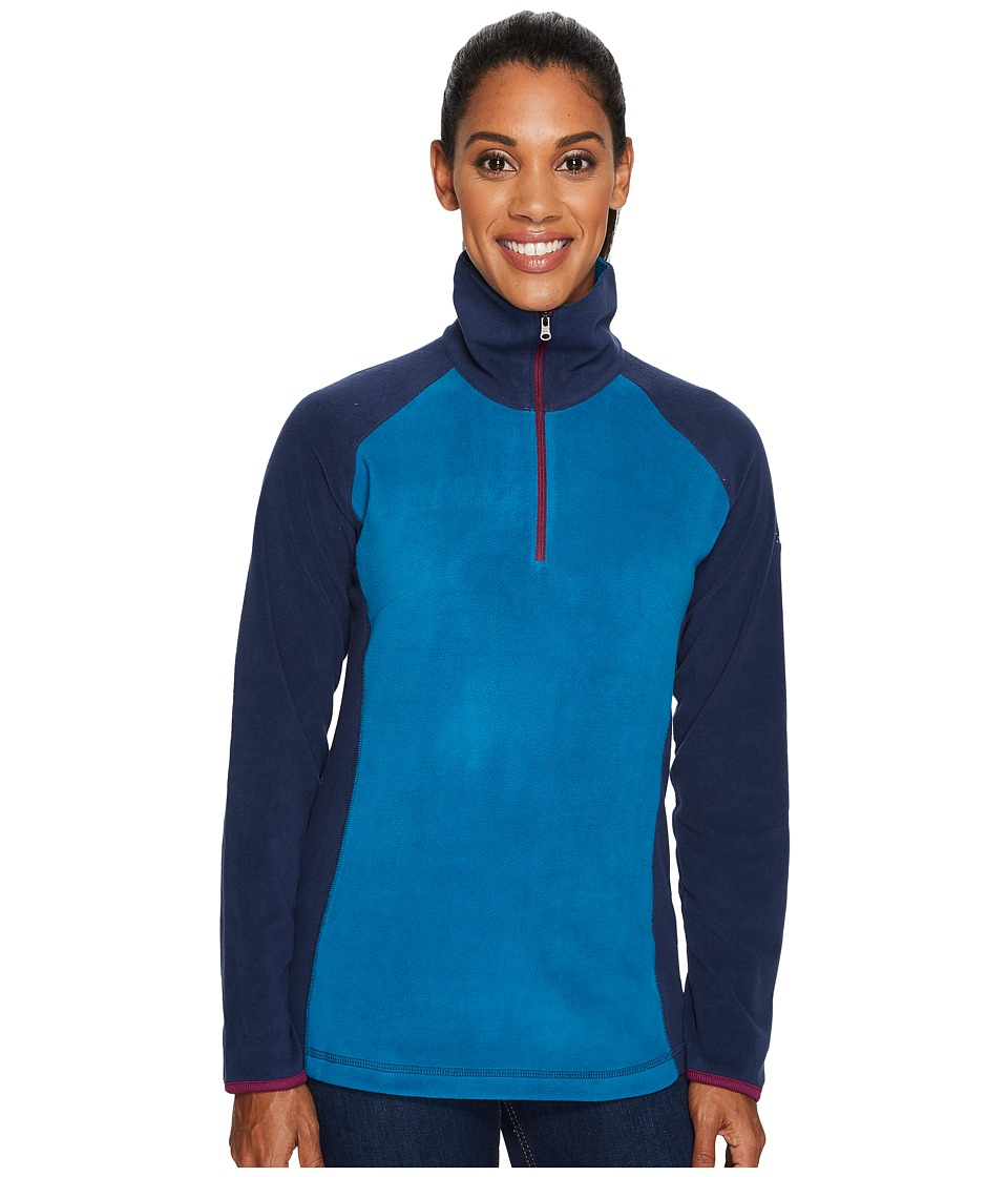 Columbia - Glacialtm Fleece III 1/2 Zip (Phoenix Blue/Collegiate Navy/Dark Raspberry) Women's Coat
