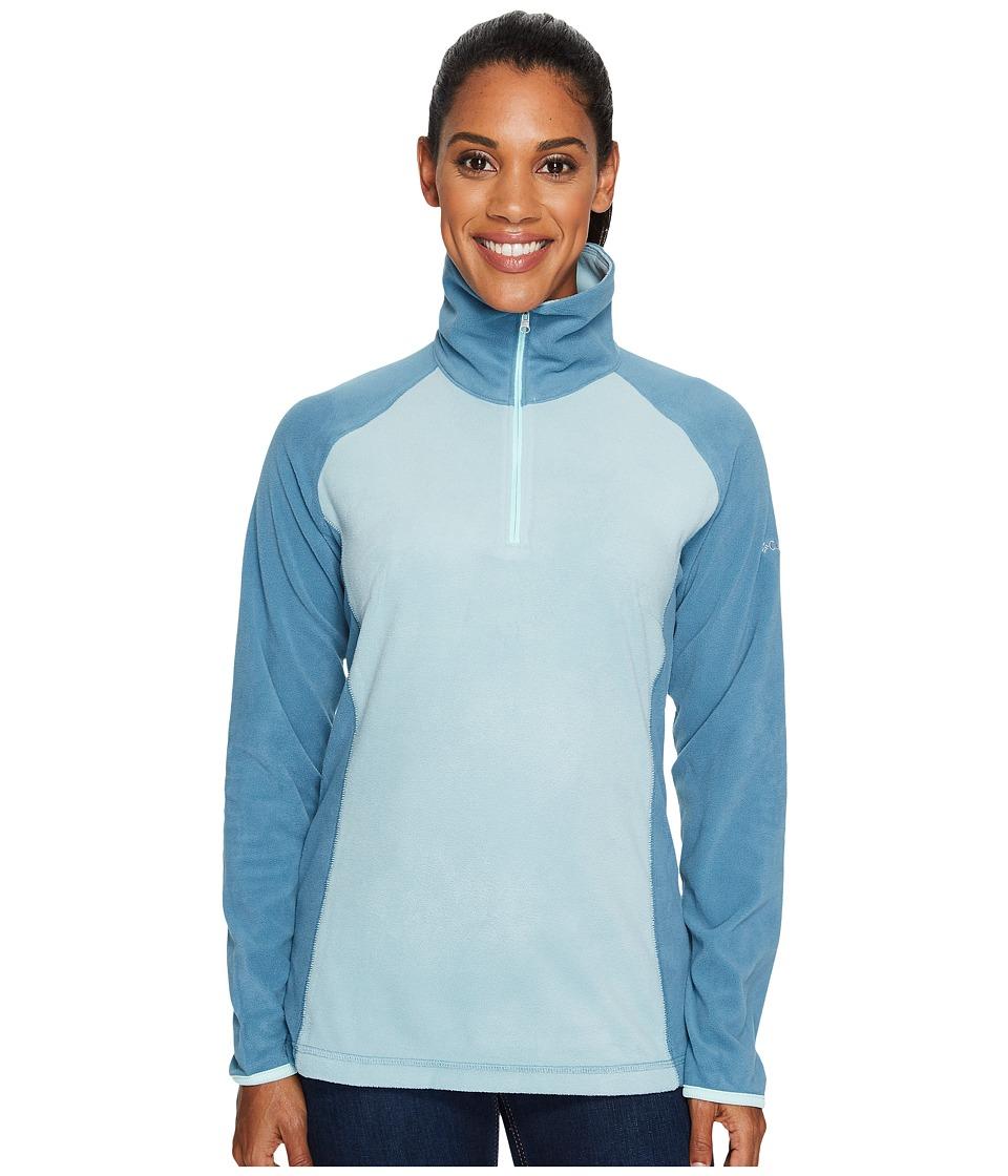 Columbia - Glacialtm Fleece III 1/2 Zip (Stone Blue/Cloudburst/Blueglass) Women's Coat