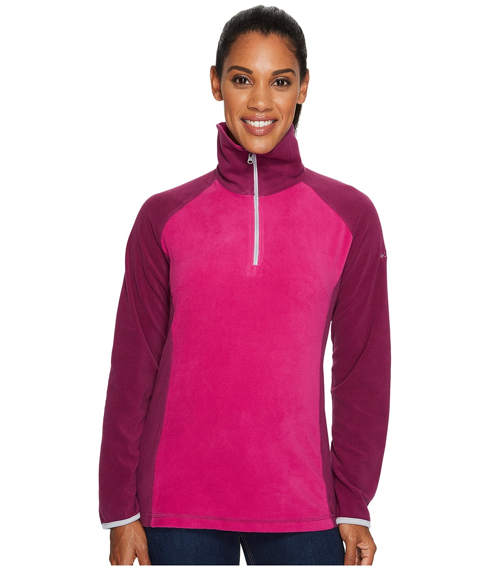 Columbia - Glacialtm Fleece III 1/2 Zip (Deep Blush/Dark Raspberry/Columbia Grey) Women's Coat