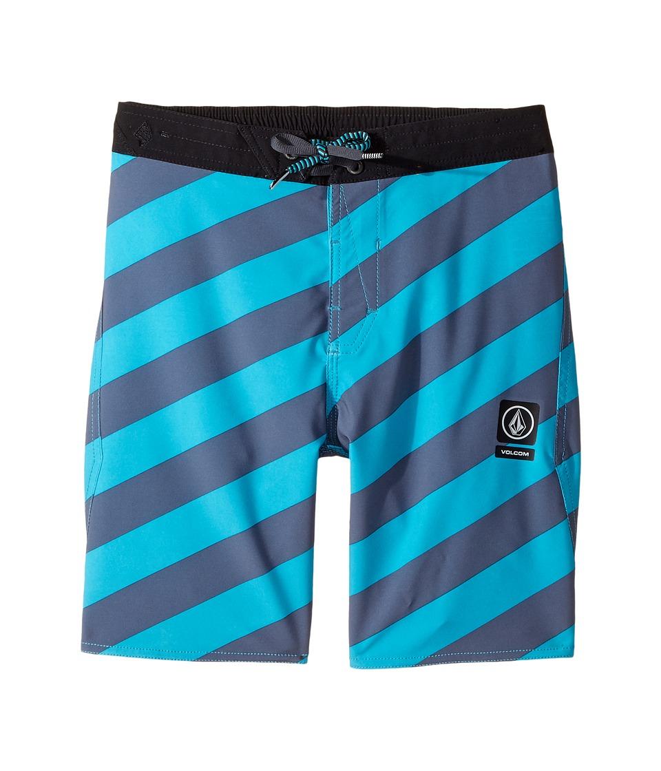 Volcom Kids - Stripey Half Stoney Boardshort (Little Kids/Big Kids) (Aqua) Boy's Swimwear