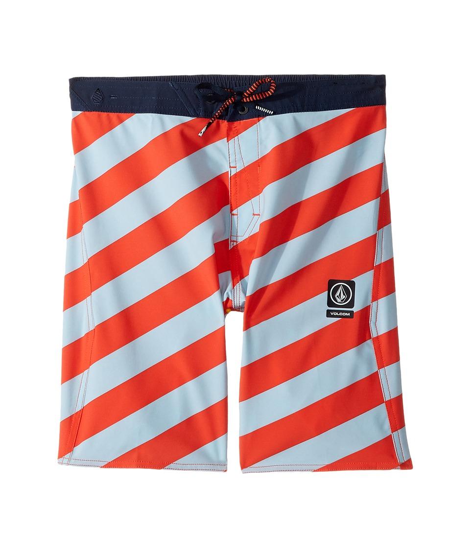 Volcom Kids - Stripey Half Stoney Boardshort (Little Kids/Big Kids) (Bright Orange) Boy's Swimwear