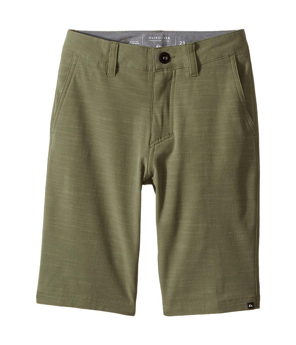 Quiksilver Kids - Slubbed Amphibian 19 (Big Kids) (Four Leaf Clover) Boy's Shorts