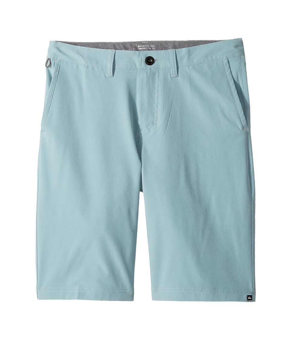 Quiksilver Kids - Solid Amphibian 19 (Big Kids) (Stone Blue) Boy's Shorts