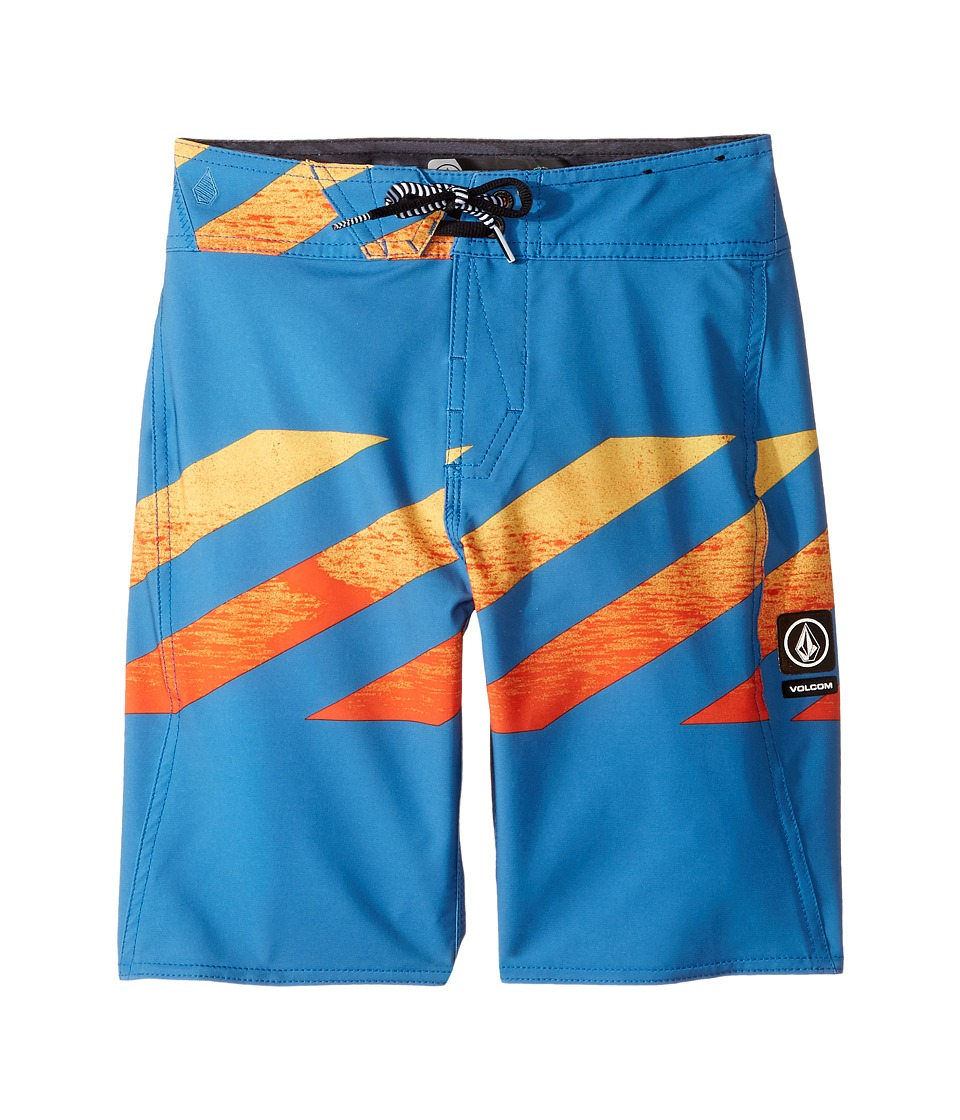 Volcom Kids - Macaw Mod Boardshorts (Big Kids) (Bright Orange) Boy's Swimwear