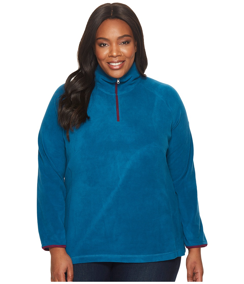 Columbia - Plus Size Glacialtm Fleece III 1/2 Zip (Phoenix Blue/Dark Raspberry) Women's Fleece