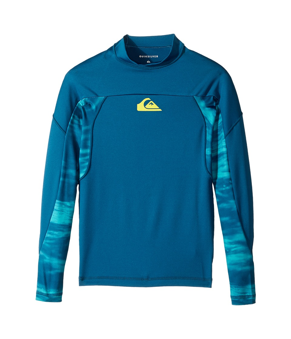 Quiksilver Kids - New Wave Long Sleeve (Big Kids) (Moroccan Blue) Boy's Swimwear