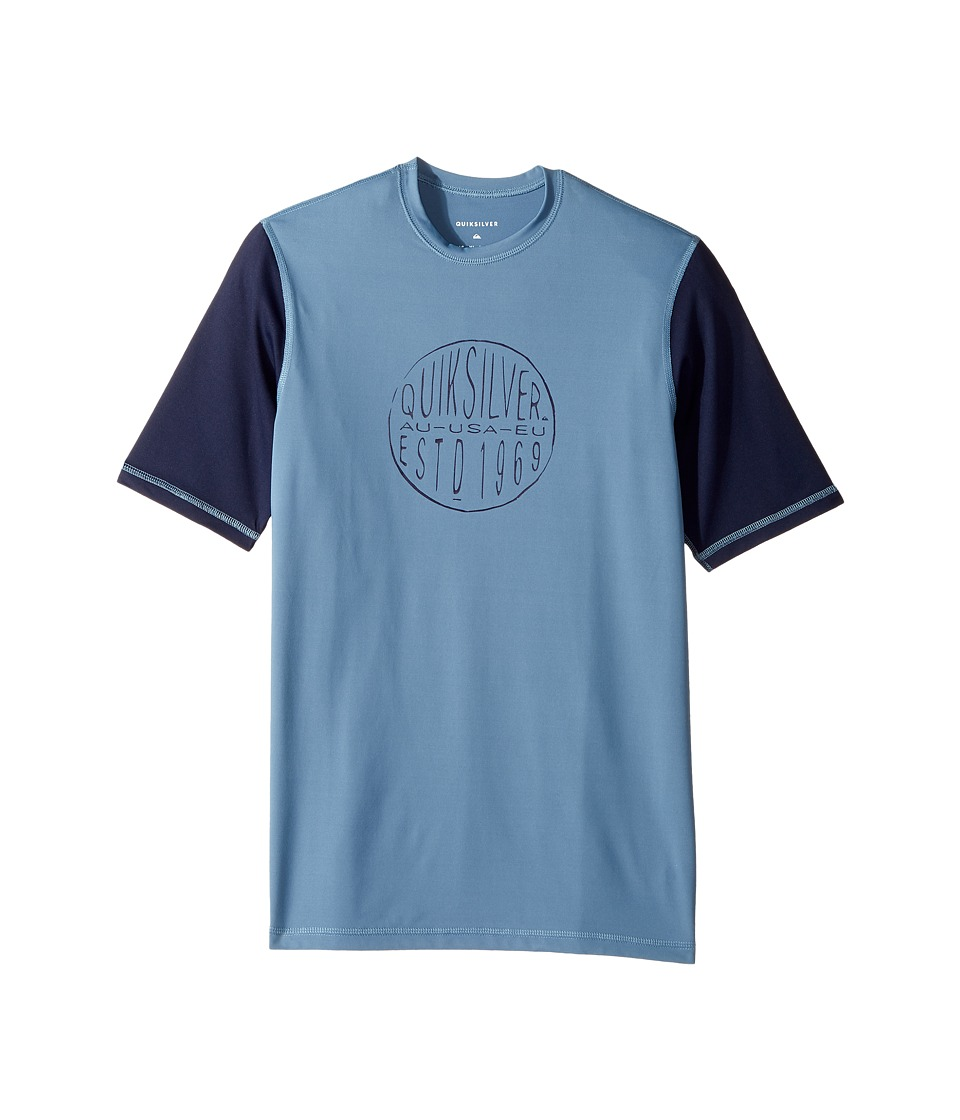 Quiksilver Kids - Last Call Short Sleeve (Big Kids) (Captains Blue) Boy's T Shirt