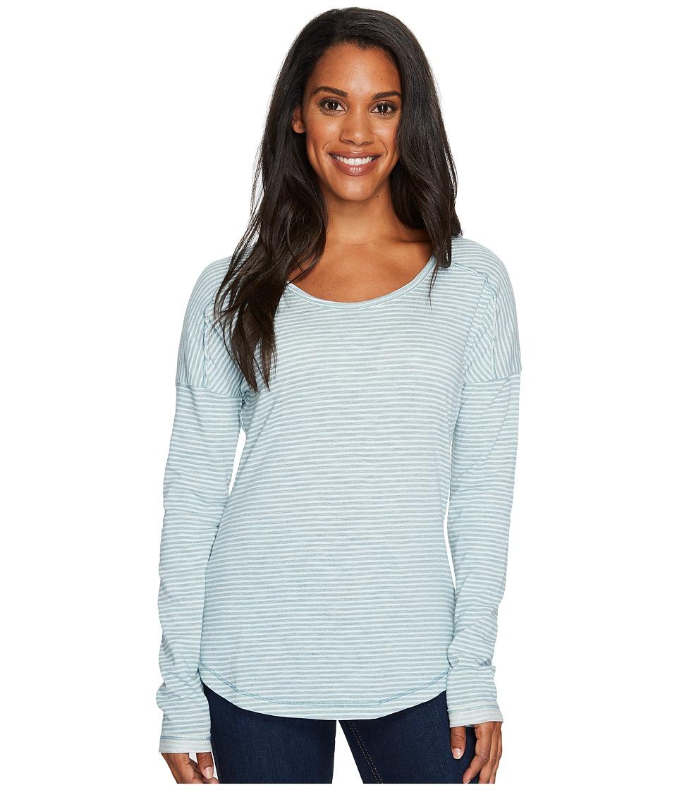 Columbia - Easygoing Long Sleeve Stripe Tee (Cloudburst Stripe) Women's Long Sleeve Pullover