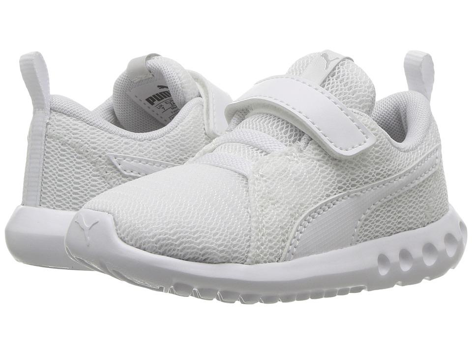 Puma Kids - Carson 2 V (Toddler) (Puma White/Puma White) Kids Shoes
