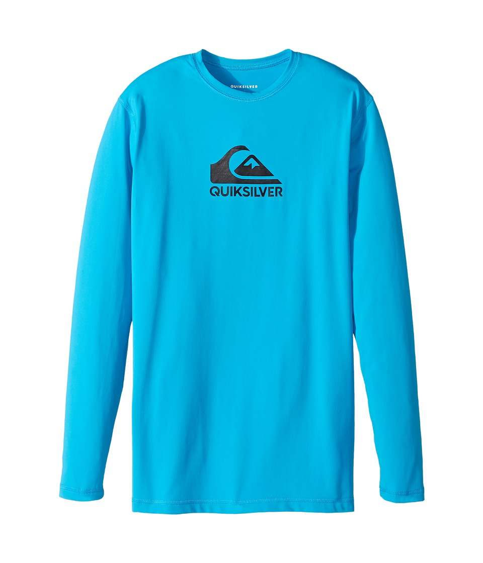 Quiksilver Kids - Solid Streak Long Sleeve Rashguard (Big Kids) (Blue Danube) Boy's Long Sleeve Pullover