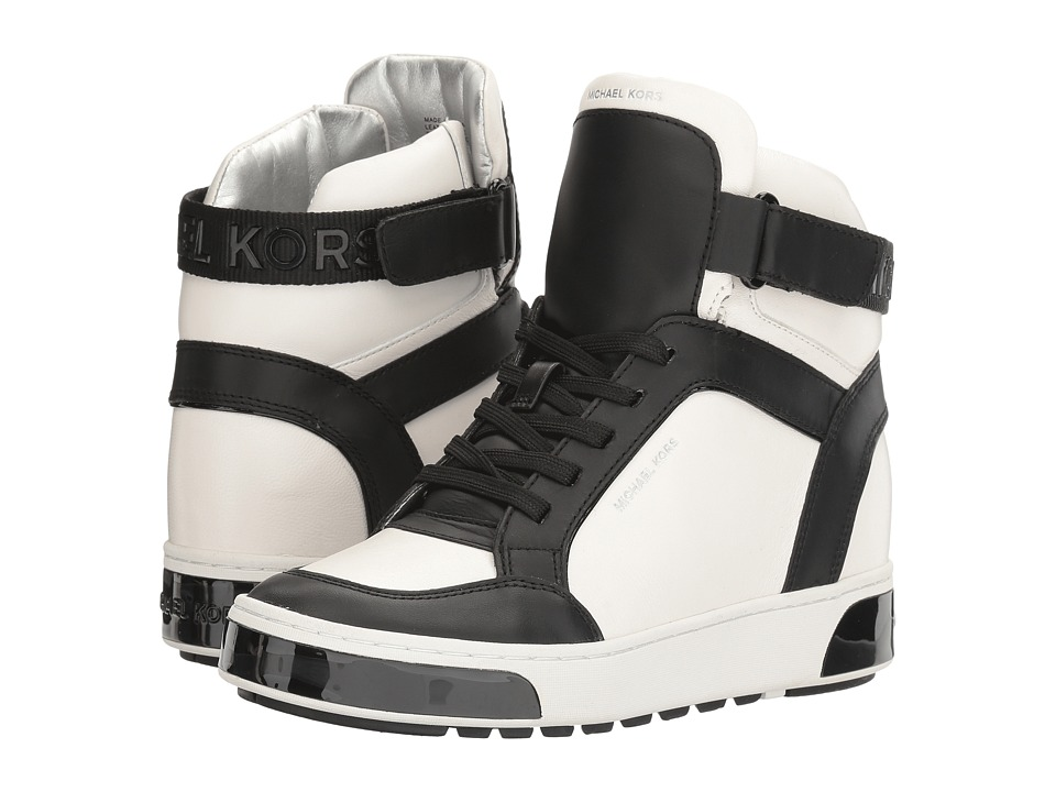 MICHAEL Michael Kors - Pia High Top (Optic White/Black) Women's Shoes