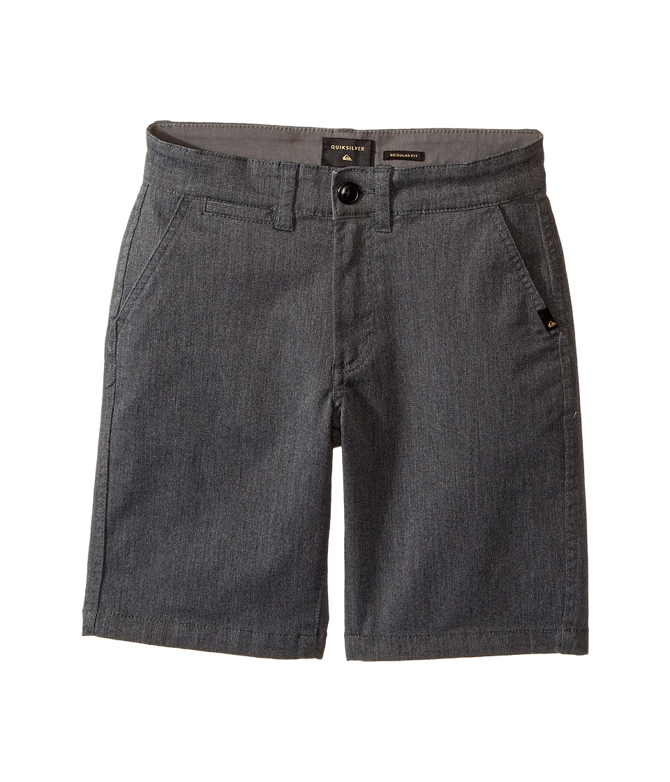 Quiksilver Kids - Everyday Union Stretch Walkshorts (Big Kids) (Dark Grey Heather) Boy's Shorts