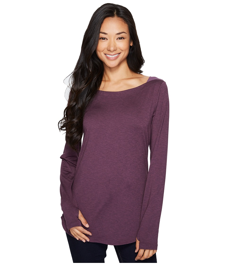 Columbia - Place to Place Long Sleeve Shirt (Dusty Purple Spacedye) Women's Long Sleeve Pullover