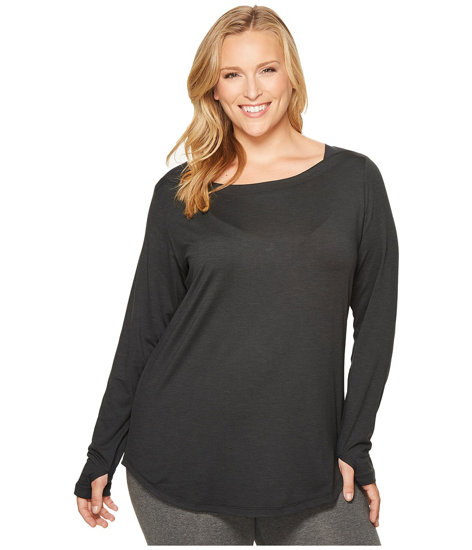 Columbia - Plus Size Place to Place Long Sleeve Shirt (Black) Women's Long Sleeve Pullover