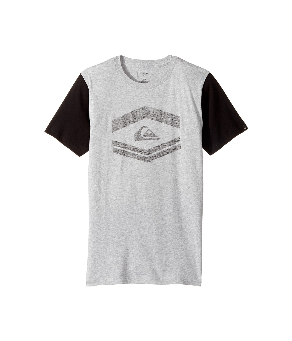 Quiksilver Kids - Friendly Fire Tee (Big Kids) (Athletic Heather) Boy's T Shirt