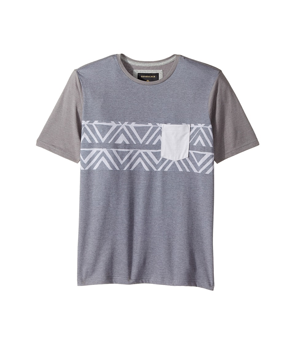 Quiksilver Kids - Den Man Tee (Big Kids) (Dark Grey Heather) Boy's T Shirt