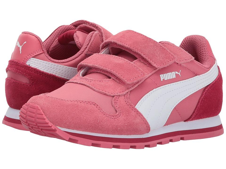 Puma Kids ST Runner NL V (Little Kid/Big Kid) (Rapture Rose/Puma White) Girls Shoes