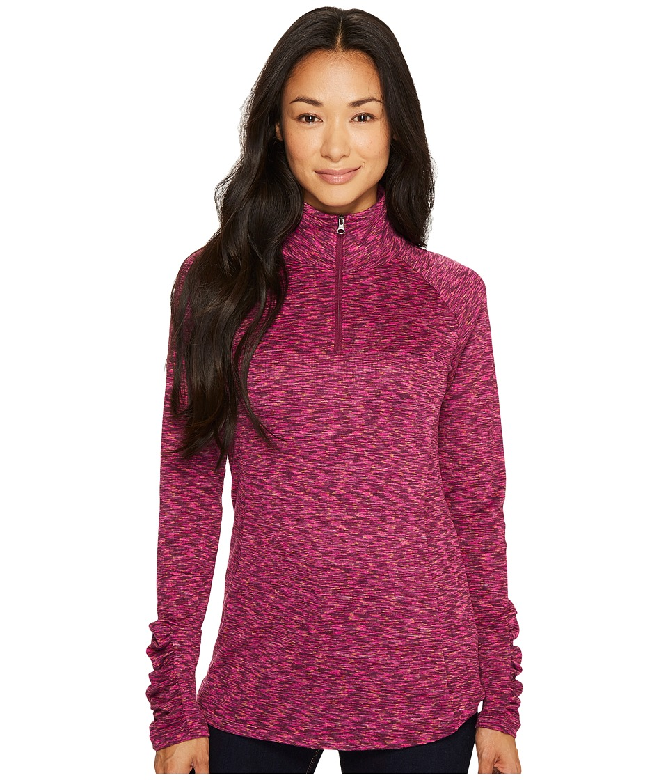 Columbia - OuterSpaced III Half Zip Top (Deep Blush) Women's Long Sleeve Pullover
