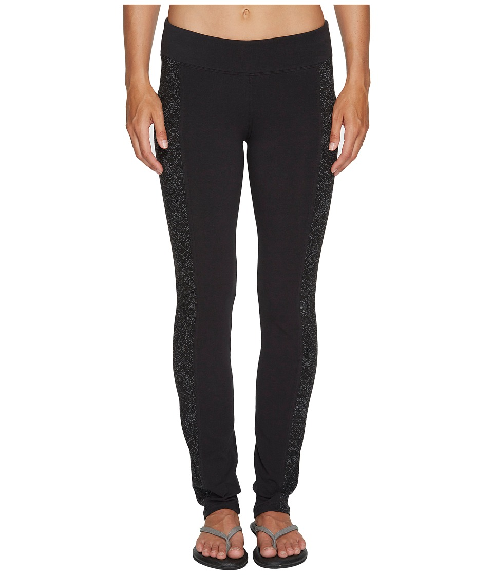 Columbia - Anytime Casual Straight Leg Pants (Black/Black Snowflake) Women's Casual Pants