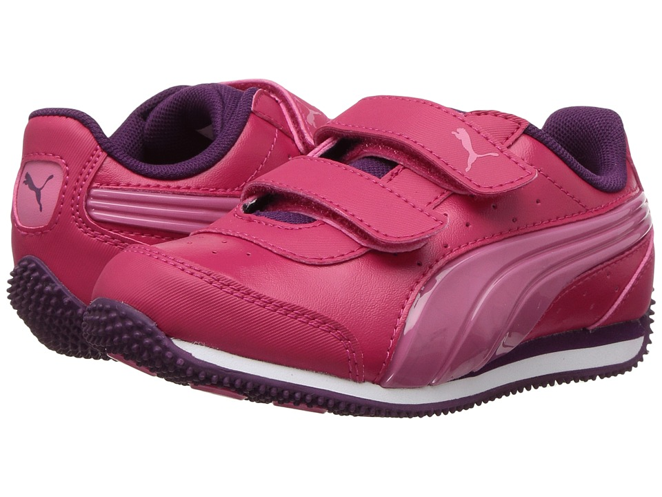 Puma Kids Speed Light Up Power V (Toddler) (Love Potion/Rapture Rose) Girls Shoes